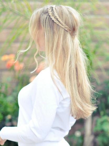 Flower Girl Hairstyles - Hippie Double Braid