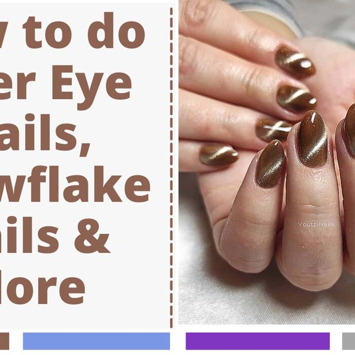 Simple Guide To Make Tiger Eye Nails and Snowflake Nails (REALLY EASY!)