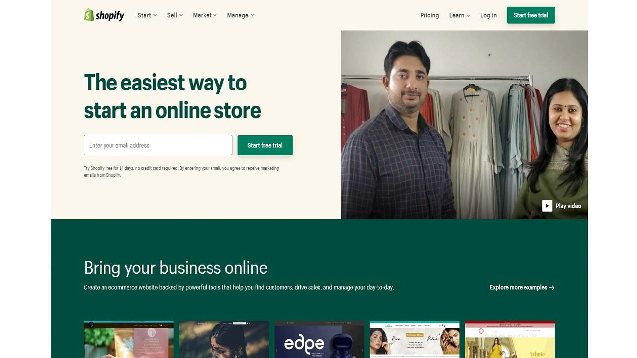 shopify -Pay As You Go Websites