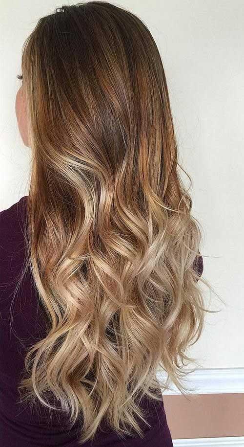 Wavy Ombre long-length Haircut