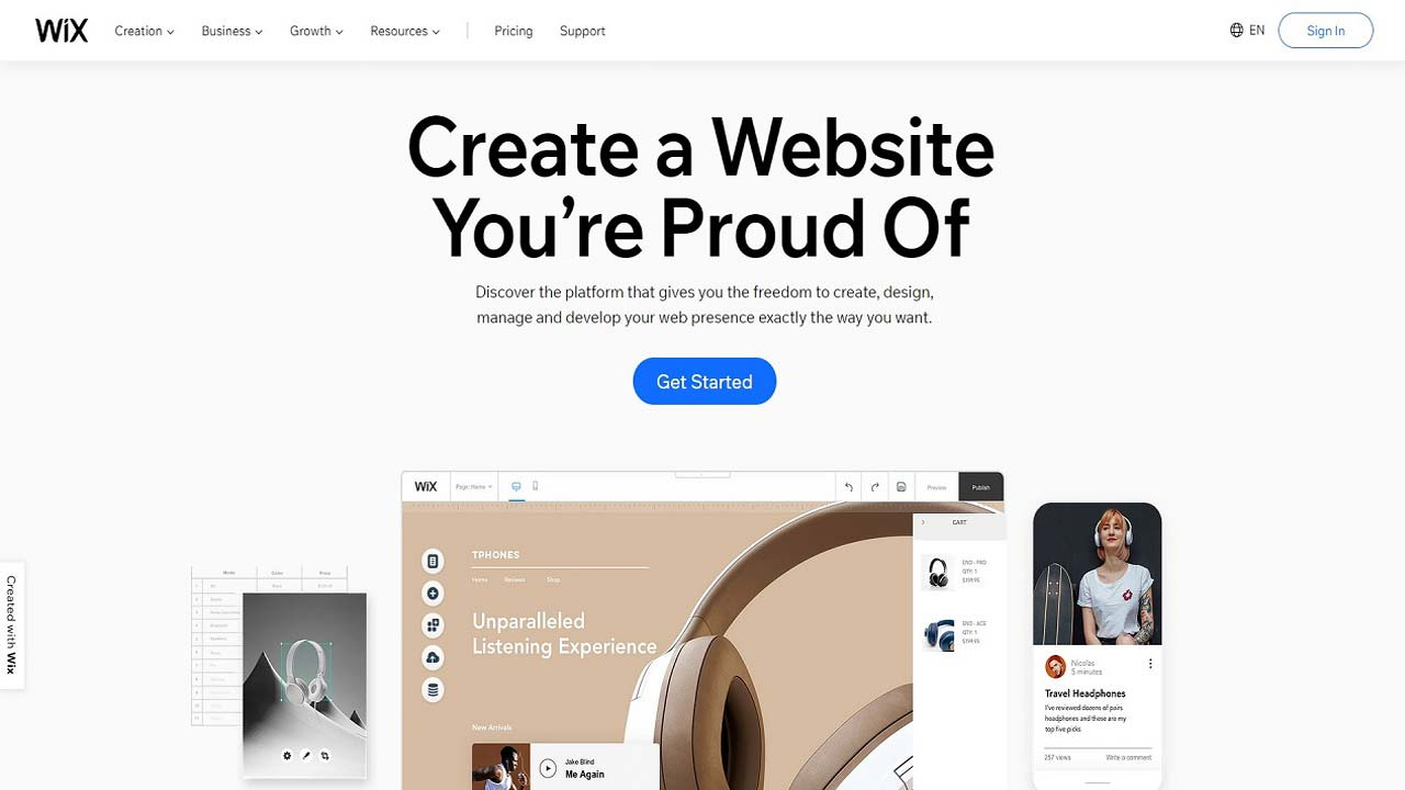 wix - Pay As You Go Websites