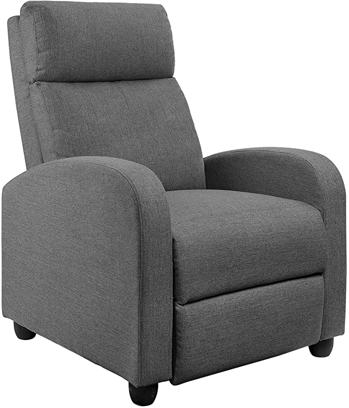 best recliners for back pain - JUMMICO Fabric Recliner Chair