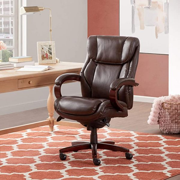 La-Z-Boy Bellamy Bonded Leather Executive Office Chair (best lazy boy recliner for back pain)