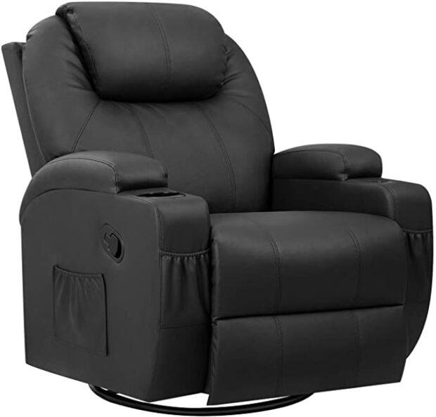 Pawnova PU Leather Chair with Massage Function